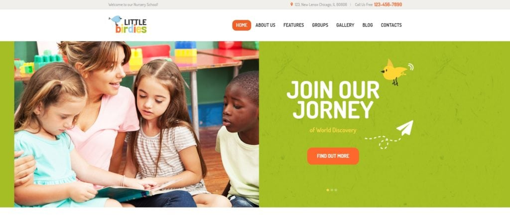детские темы WordPress для школ, детских садов, центров и магазинов 01