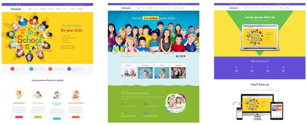 детские темы WordPress для школ, детских садов, центров и магазинов 03