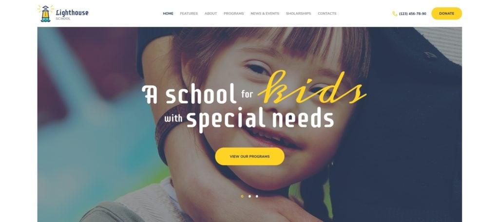 детские темы WordPress для школ, детских садов, центров и магазинов 08