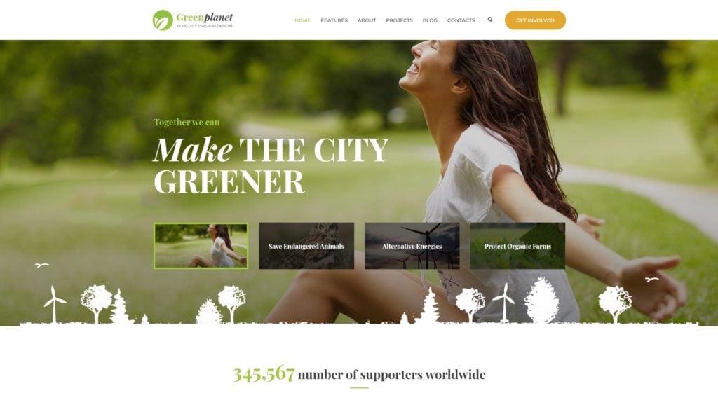 сайт экологической организации на WordPress с функцией сбора средств 02