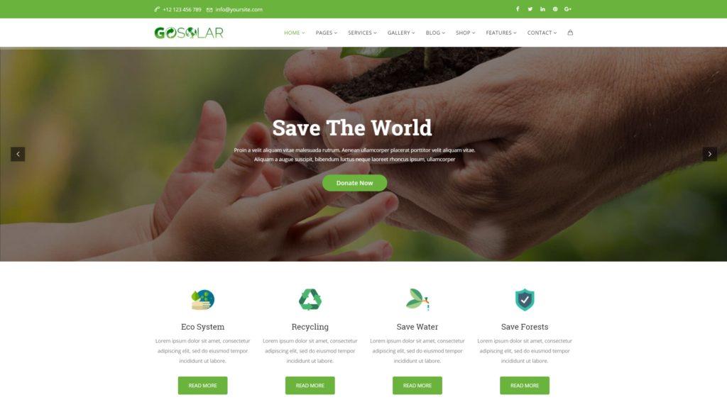 сайт экологической организации на WordPress с функцией сбора средств 03