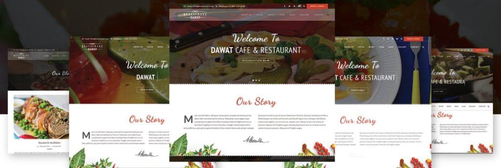 HTML шаблоны ресторан с онлайн-бронированием столиков 03