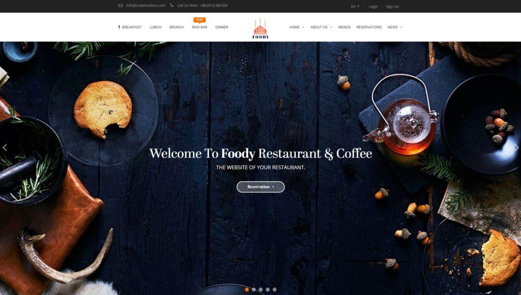 HTML шаблоны ресторан с онлайн-бронированием столиков 05
