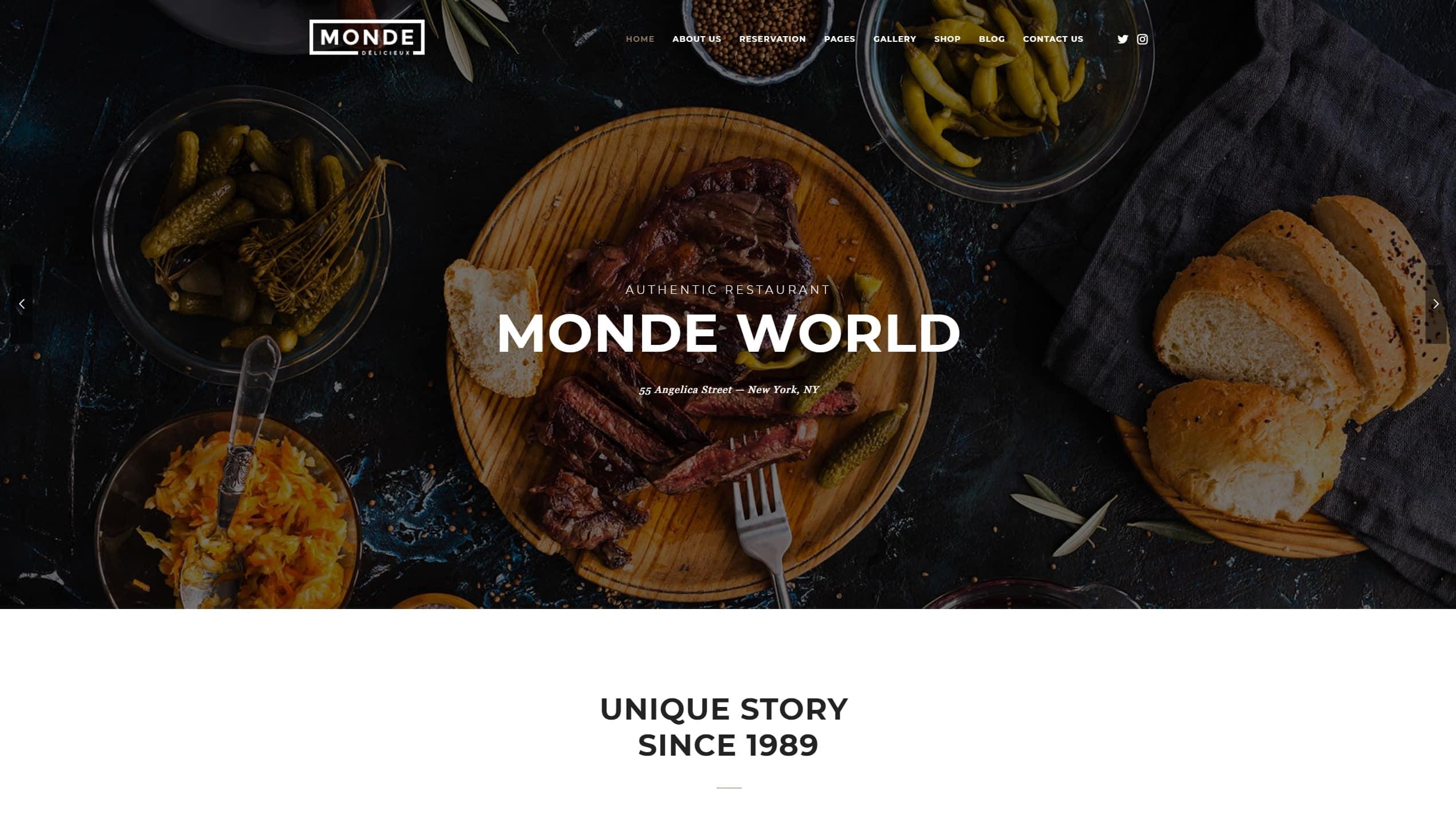 HTML шаблоны ресторан с онлайн-бронированием столиков