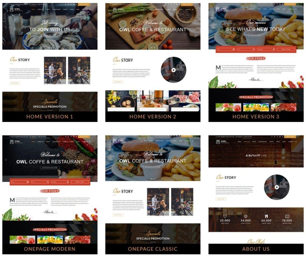 HTML шаблоны ресторан с онлайн-бронированием столиков 08