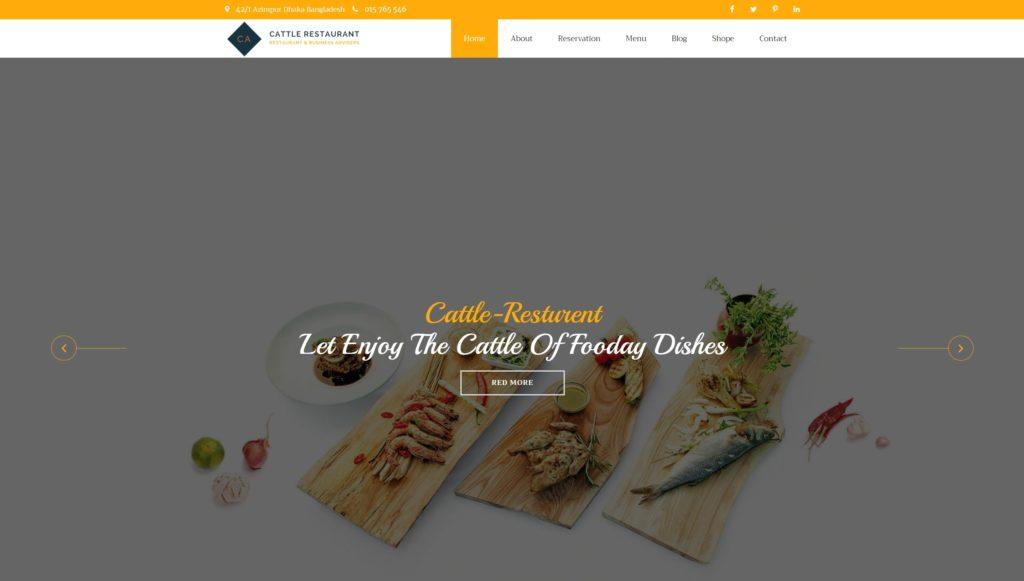 HTML шаблоны ресторан с онлайн-бронированием столиков 09