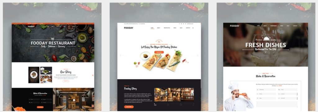 HTML шаблоны ресторан с онлайн-бронированием столиков 12
