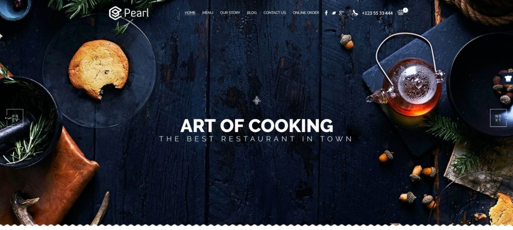 HTML шаблоны ресторан с онлайн-бронированием столиков 17