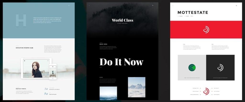 многостраничные HTML шаблоны с сотнями вариантов дизайна 16