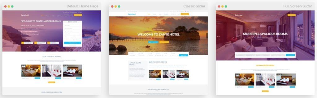 шаблон сайта гостиницы HTML с онлайн-поиском номеров 01