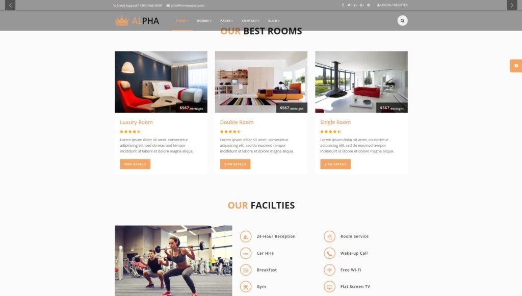 шаблон сайта гостиницы HTML с онлайн-поиском номеров 04