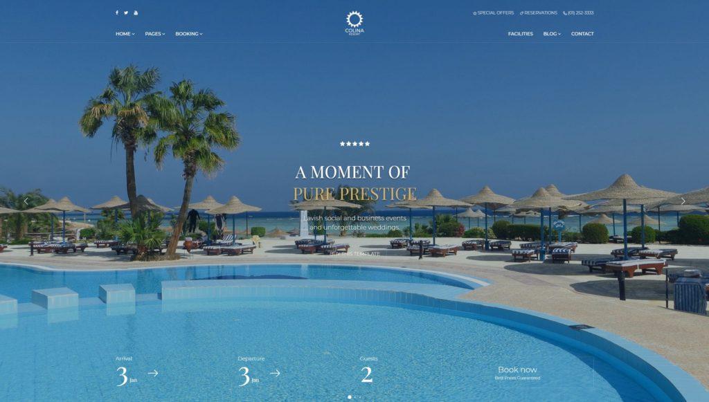 шаблон сайта гостиницы HTML с онлайн-поиском номеров 08