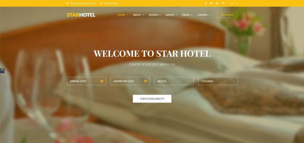 шаблон сайта гостиницы HTML с онлайн-поиском номеров 11