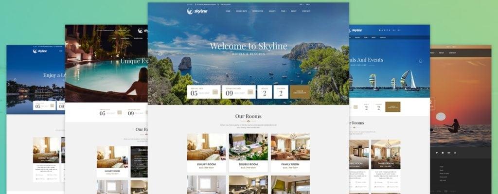 шаблон сайта гостиницы HTML с онлайн-поиском номеров 12
