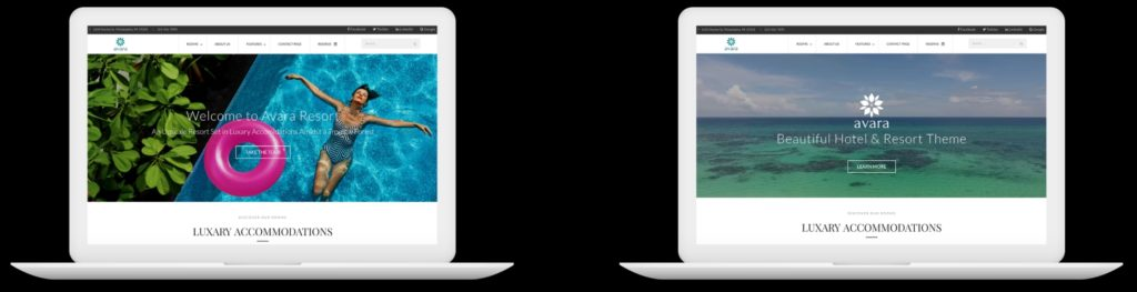 шаблон сайта гостиницы HTML с онлайн-поиском номеров 14