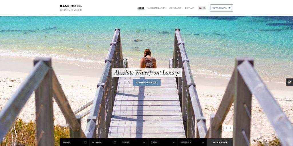 шаблон сайта гостиницы HTML с онлайн-поиском номеров 15
