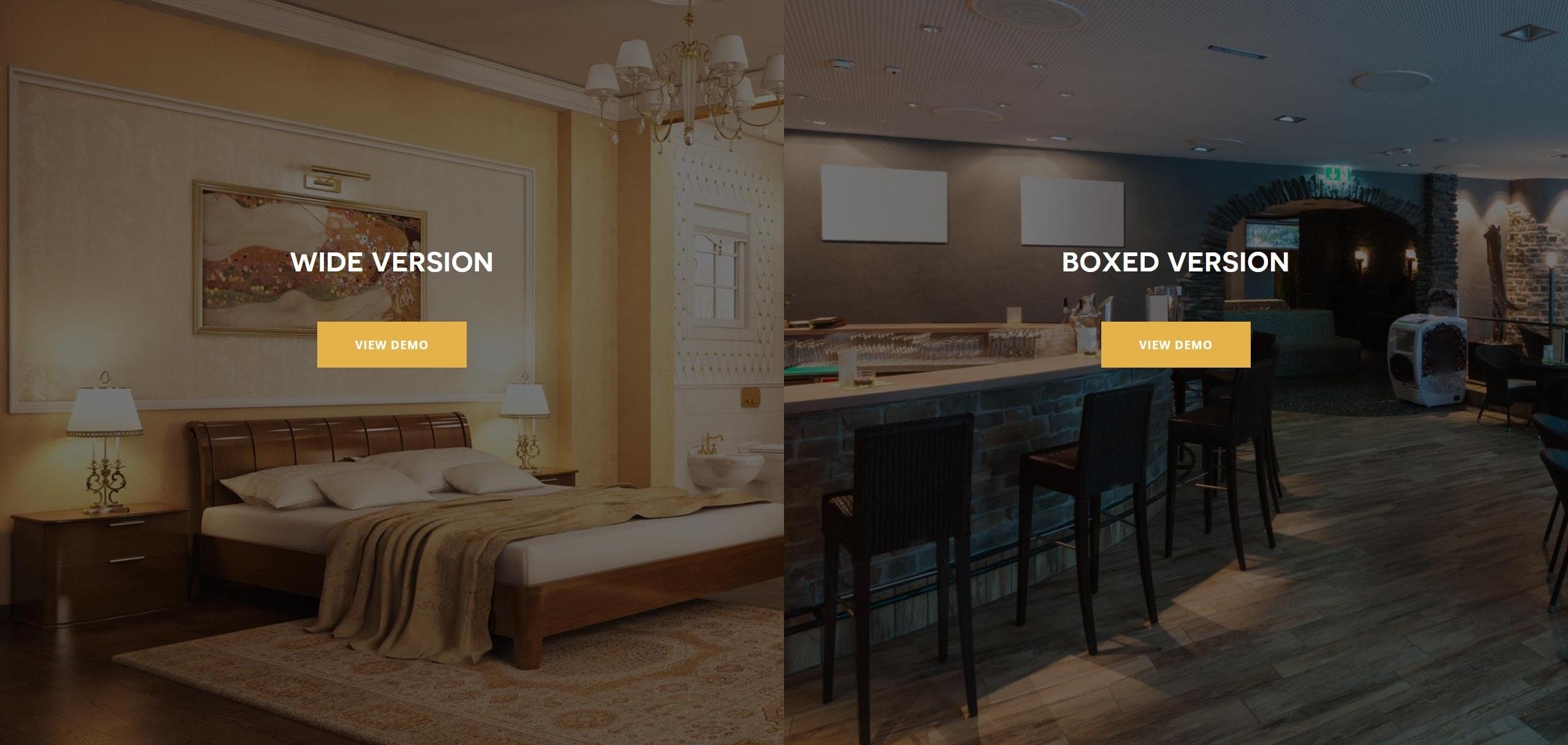 Шаблон сайта гостиницы HTML с онлайн-поиском номеров