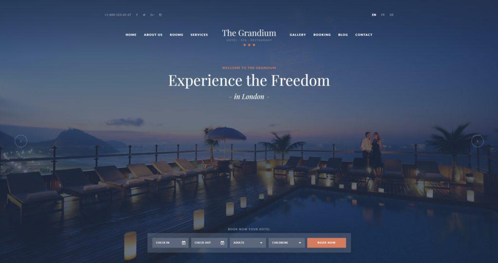 шаблон сайта гостиницы HTML с онлайн-поиском номеров 18