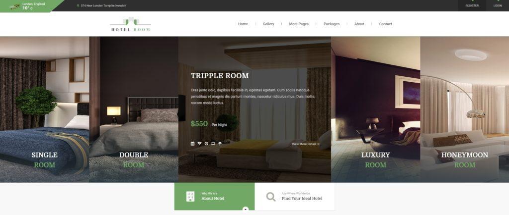 шаблон сайта гостиницы HTML с онлайн-поиском номеров 19