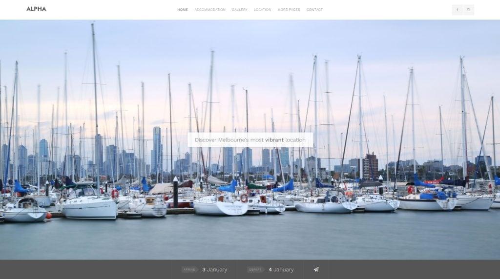 шаблон сайта гостиницы HTML с онлайн-поиском номеров 20