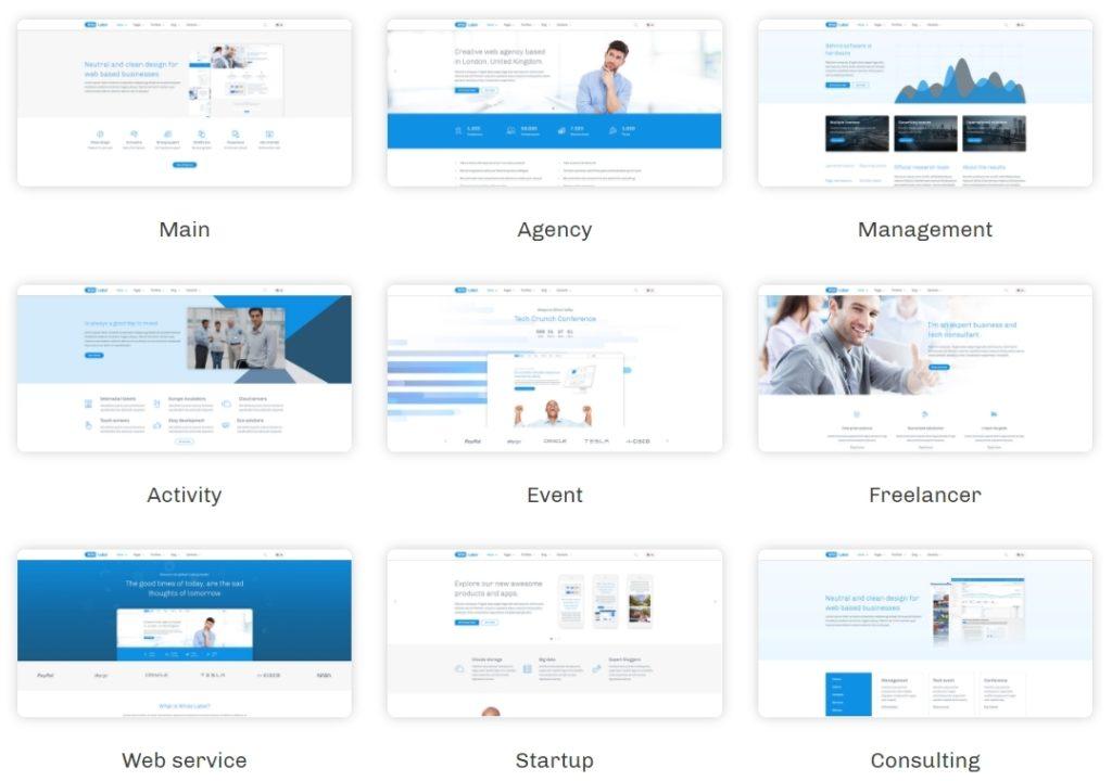 шаблон сайта компании HTML с премиальным дизайном 01
