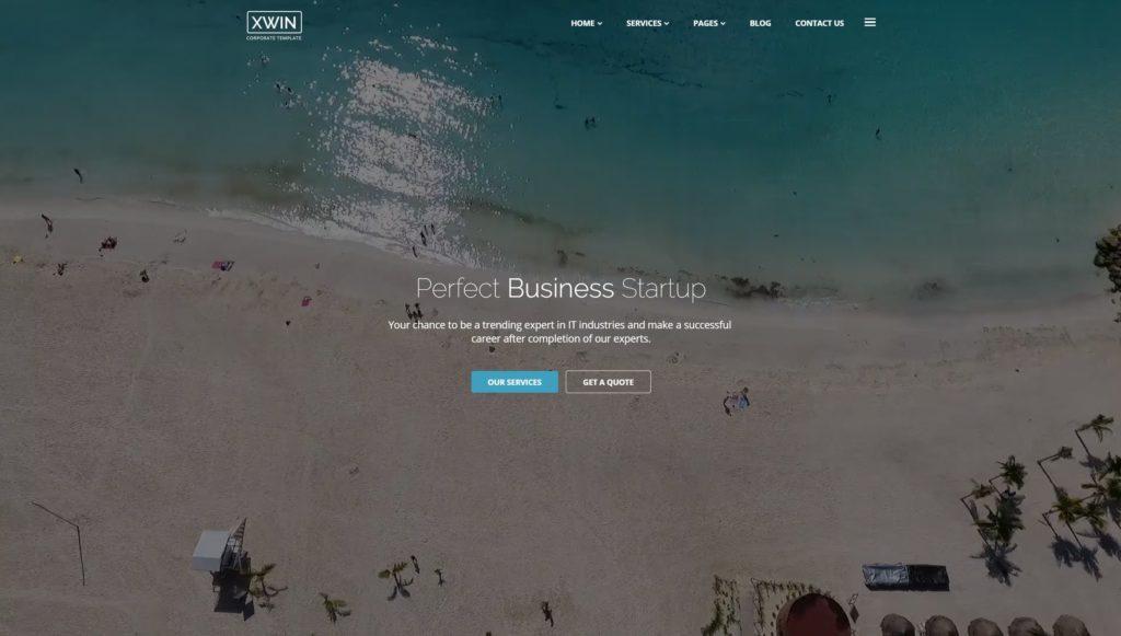 шаблон сайта компании HTML с премиальным дизайном 02
