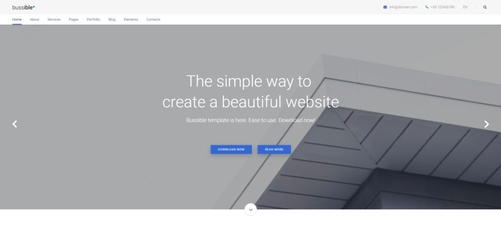 шаблон сайта компании HTML с премиальным дизайном 04