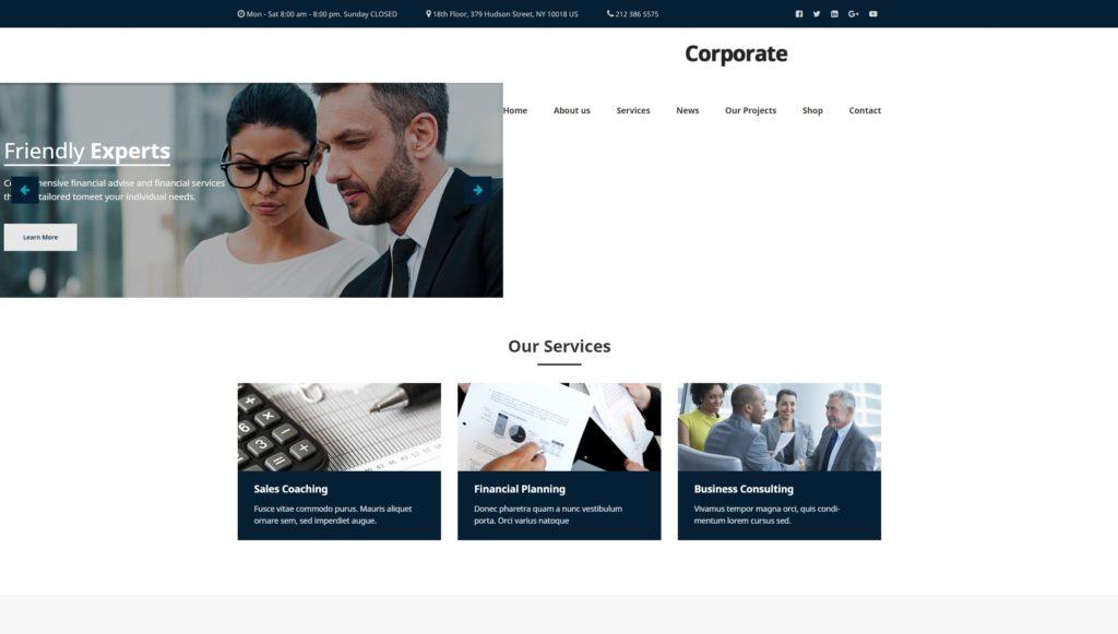 шаблон сайта компании HTML с премиальным дизайном 08