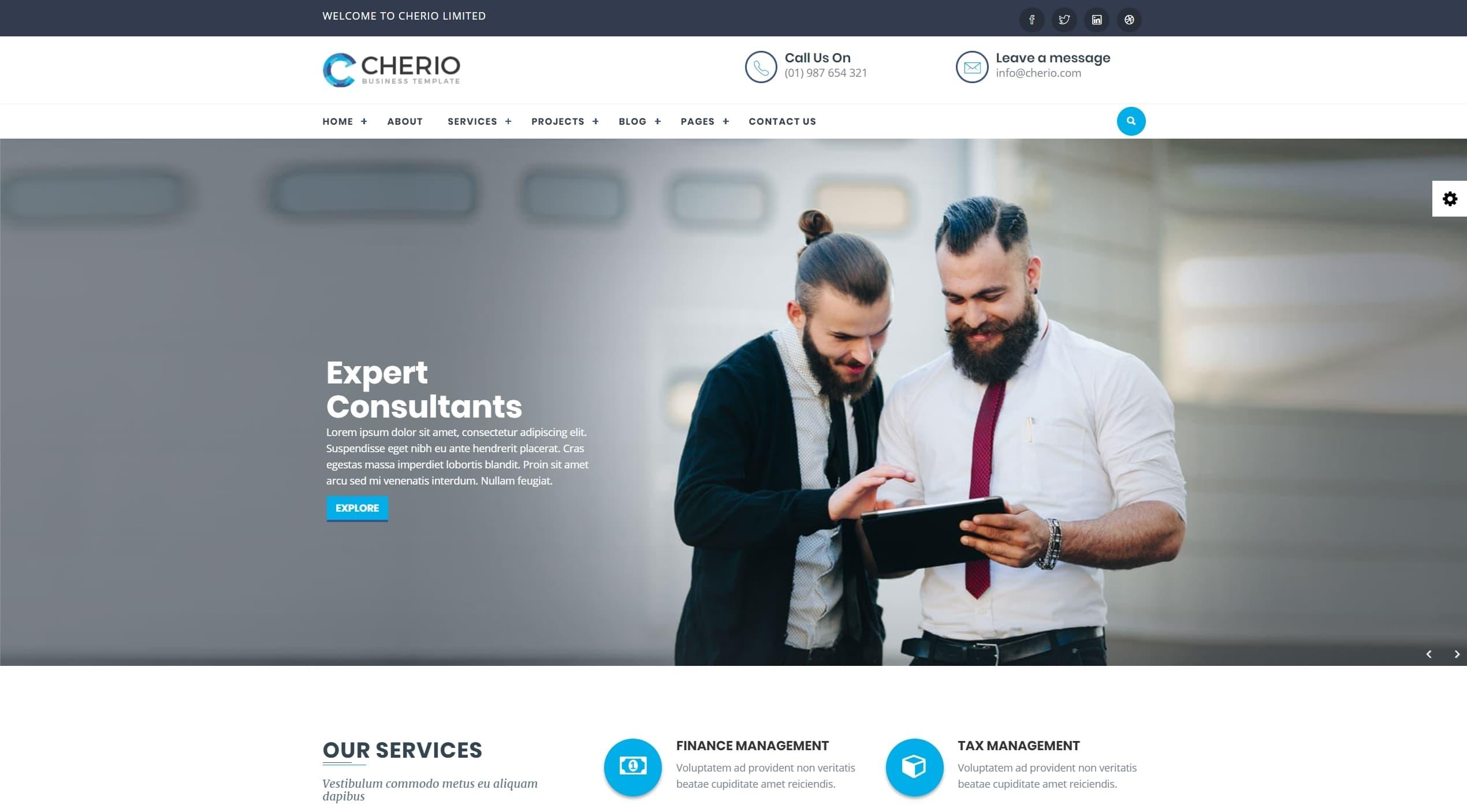 Шаблон сайта компании HTML с премиальным дизайном