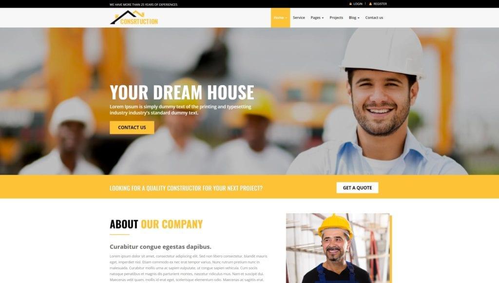 шаблон сайта компании HTML с премиальным дизайном 14