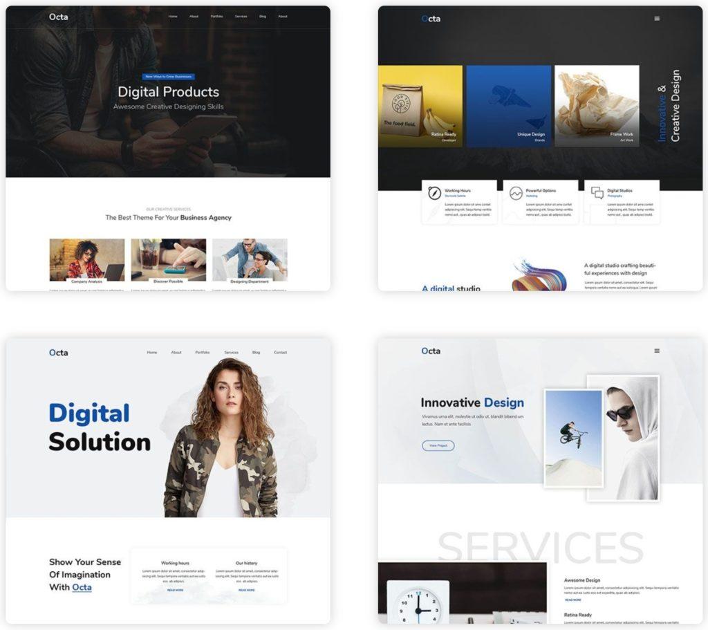 шаблон сайта компании HTML с премиальным дизайном 19
