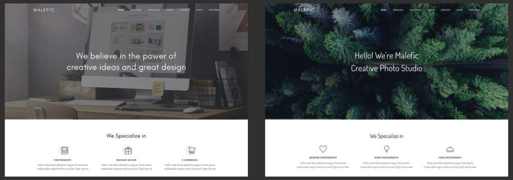 макеты сайтов HTML с возможностью разработки под любую платформу 32