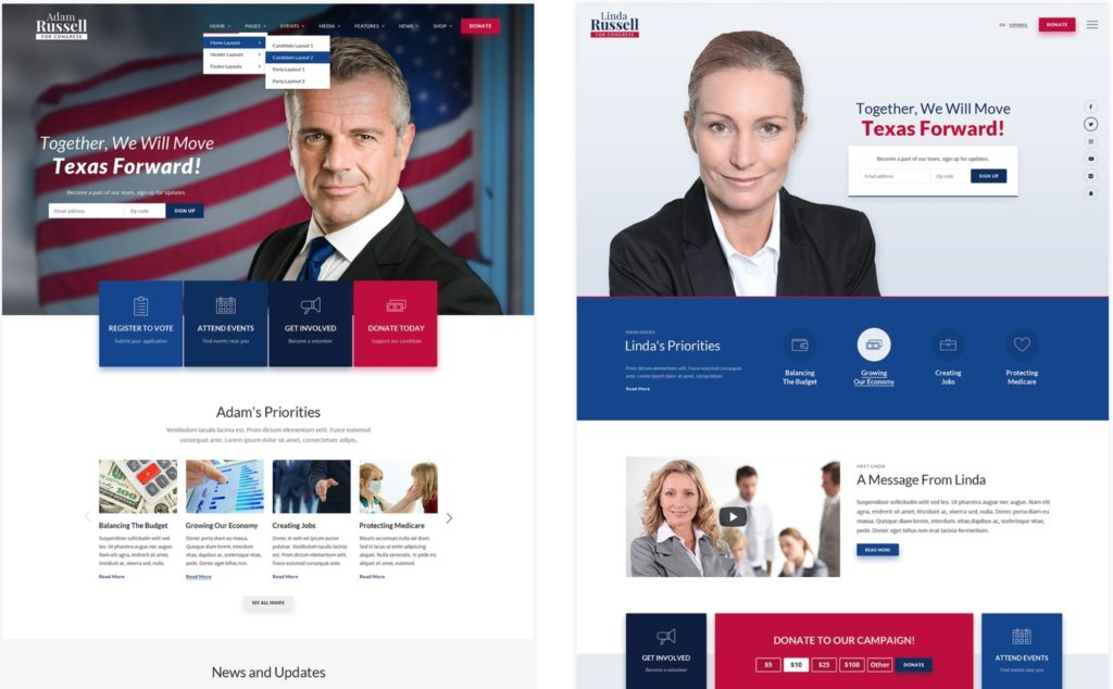 макеты сайтов HTML с возможностью разработки под любую платформу 46