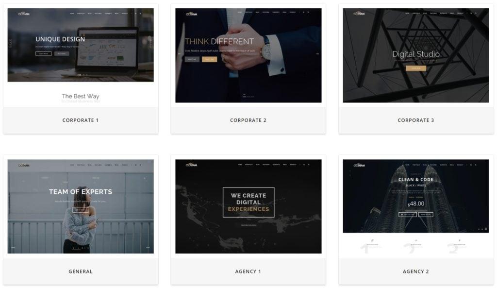 Топ 100 адаптивные HTML шаблоны для бизнеса, портфолио, блога и магазина 06