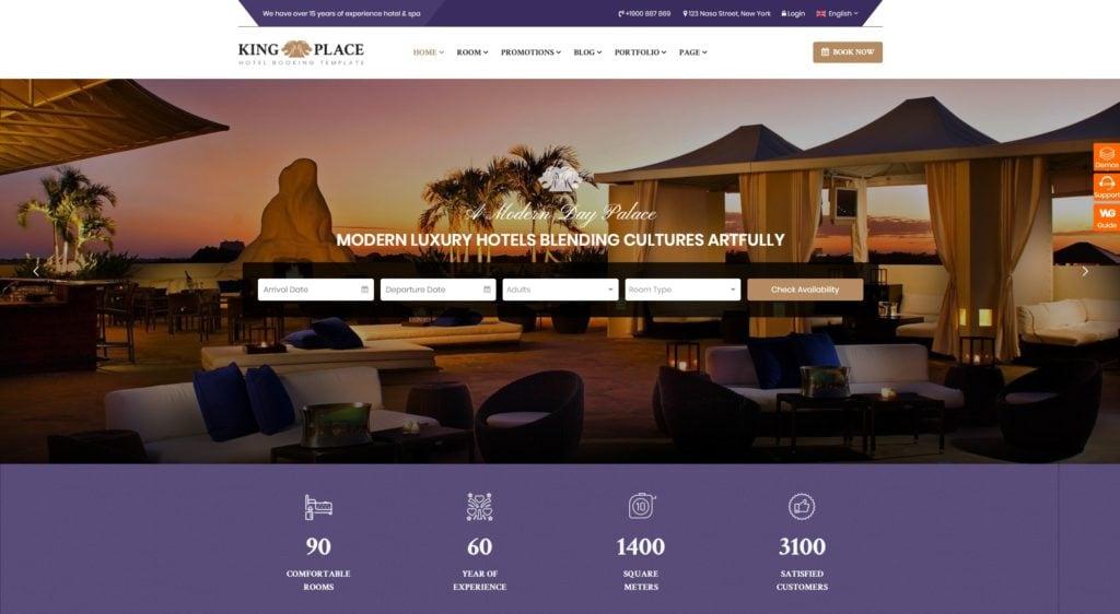 шаблон сайта бронирования для отелей, турфирм и сайтов-директорий 07