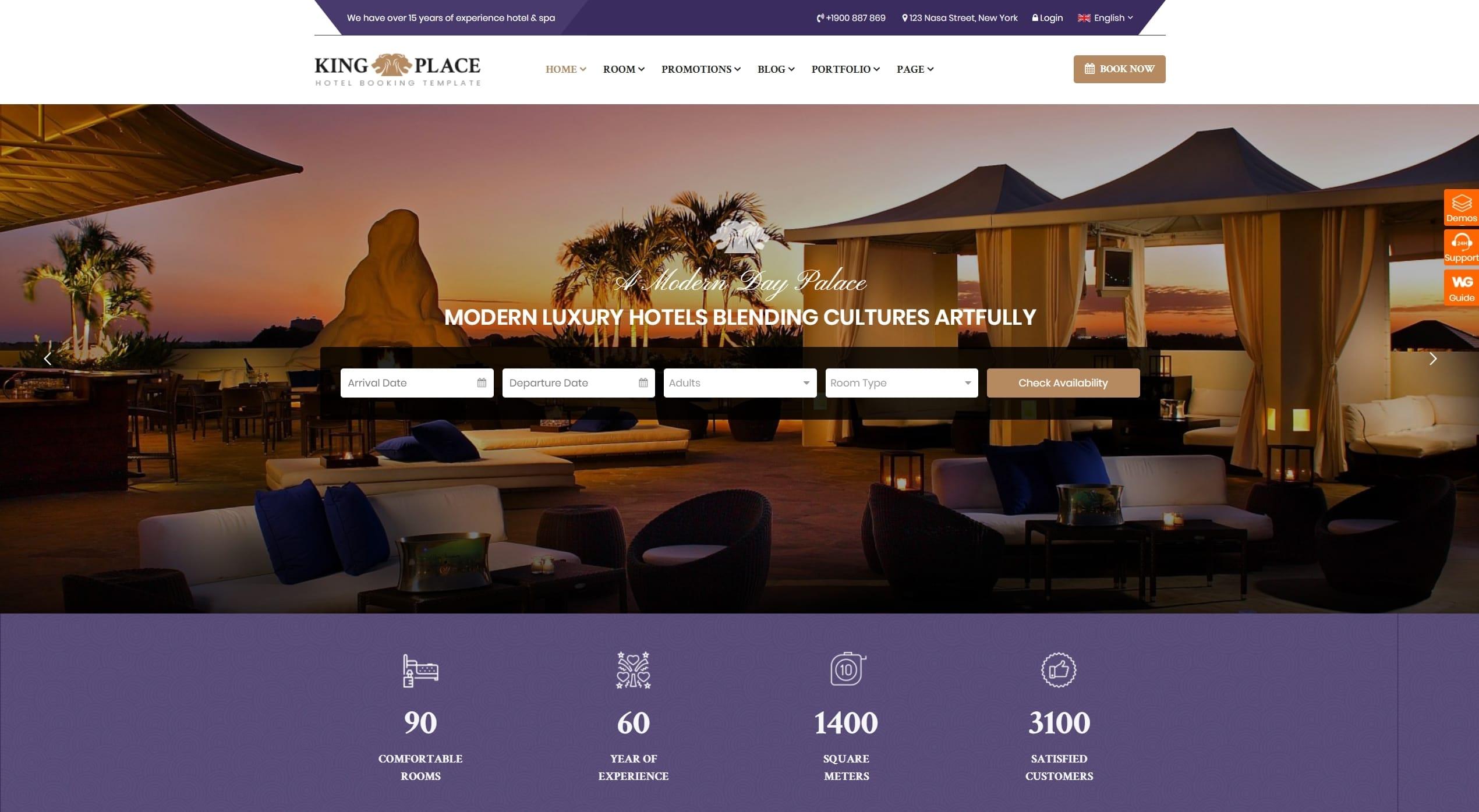 Шаблон сайта бронирования для отеля, турфирмы и сайта-директории