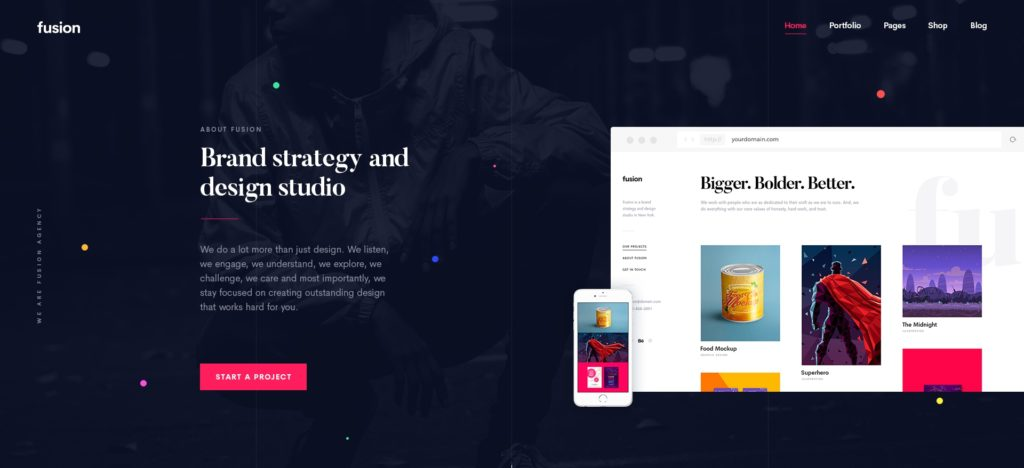 PSD макеты сайтов – 50 дизайнерских концепций для вашего бизнеса 20