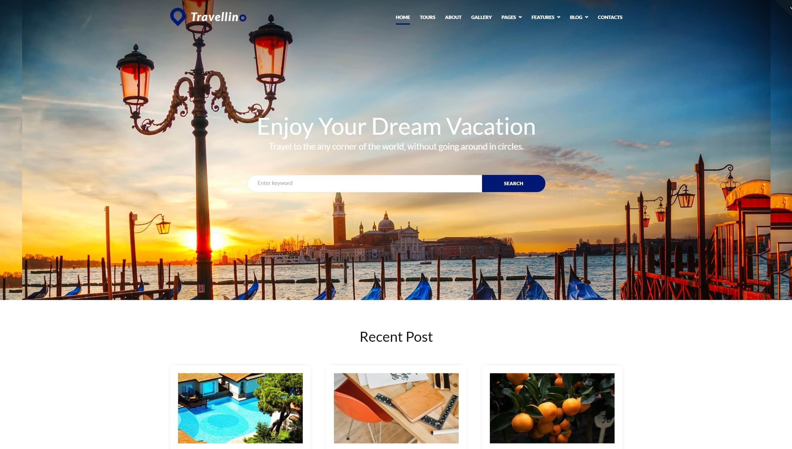 Русские WordPress туризм шаблоны с премиум дизайном и функцией онлайн-бронирования