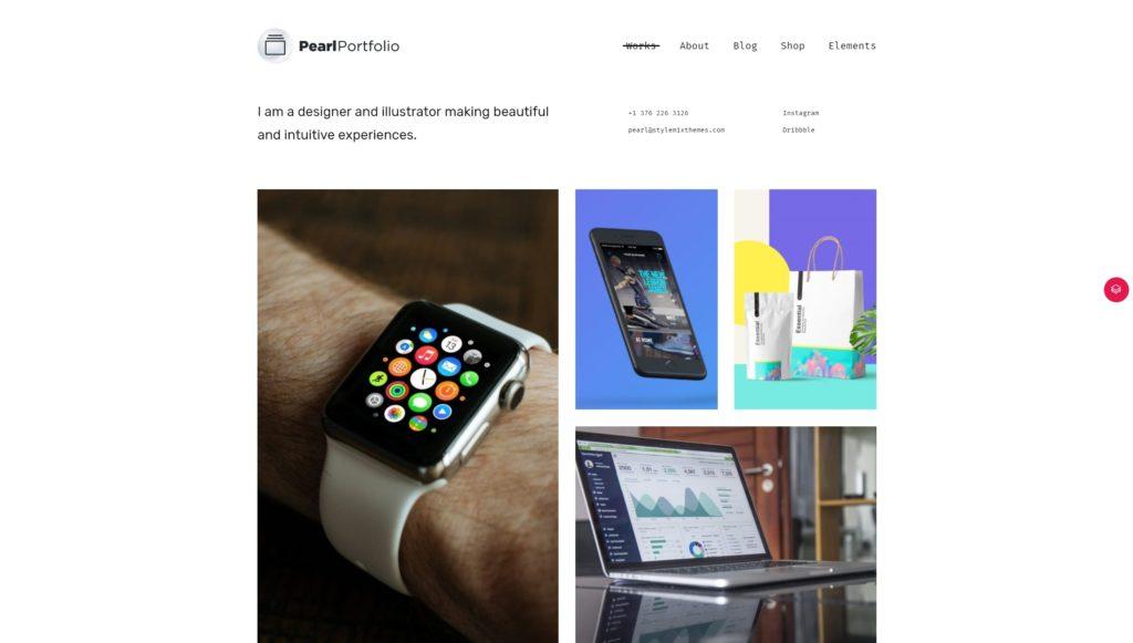 лучшие шаблоны WordPress для портфолио с образцами и красивыми галереями 13