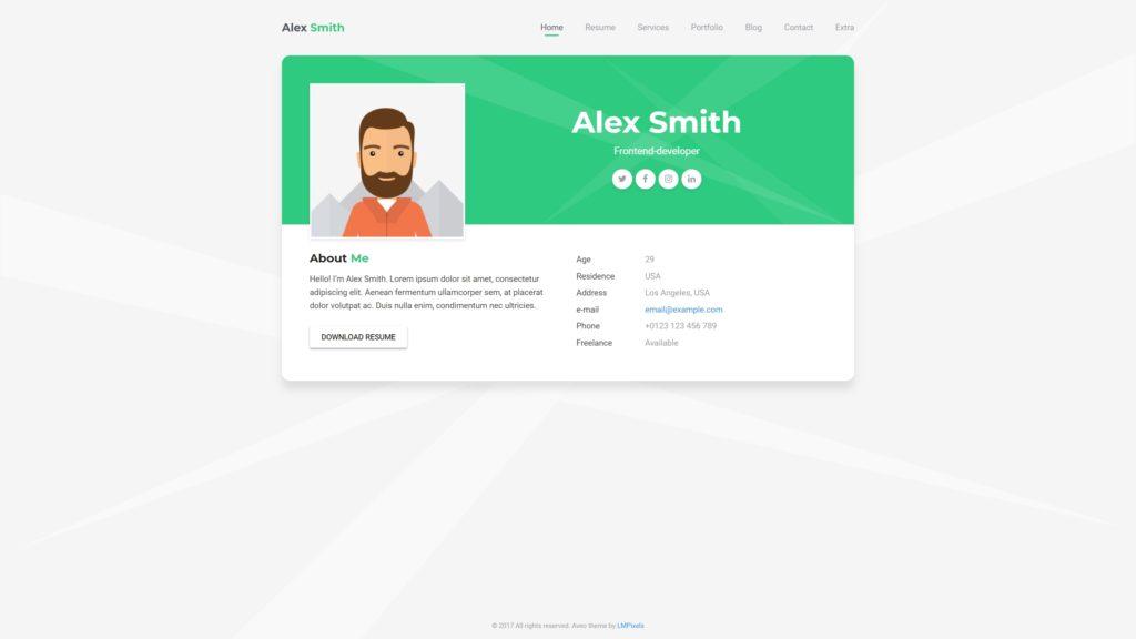 лучшие шаблоны WordPress для портфолио с образцами и красивыми галереями 23