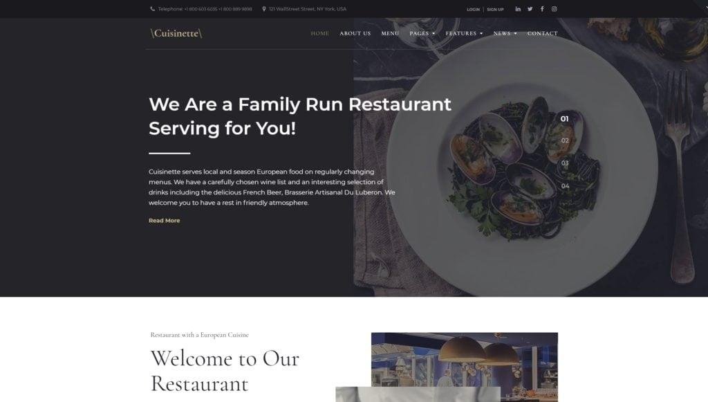 лучшие WordPress шаблоны для ресторана, кафе и бара с меню и доставкой 21