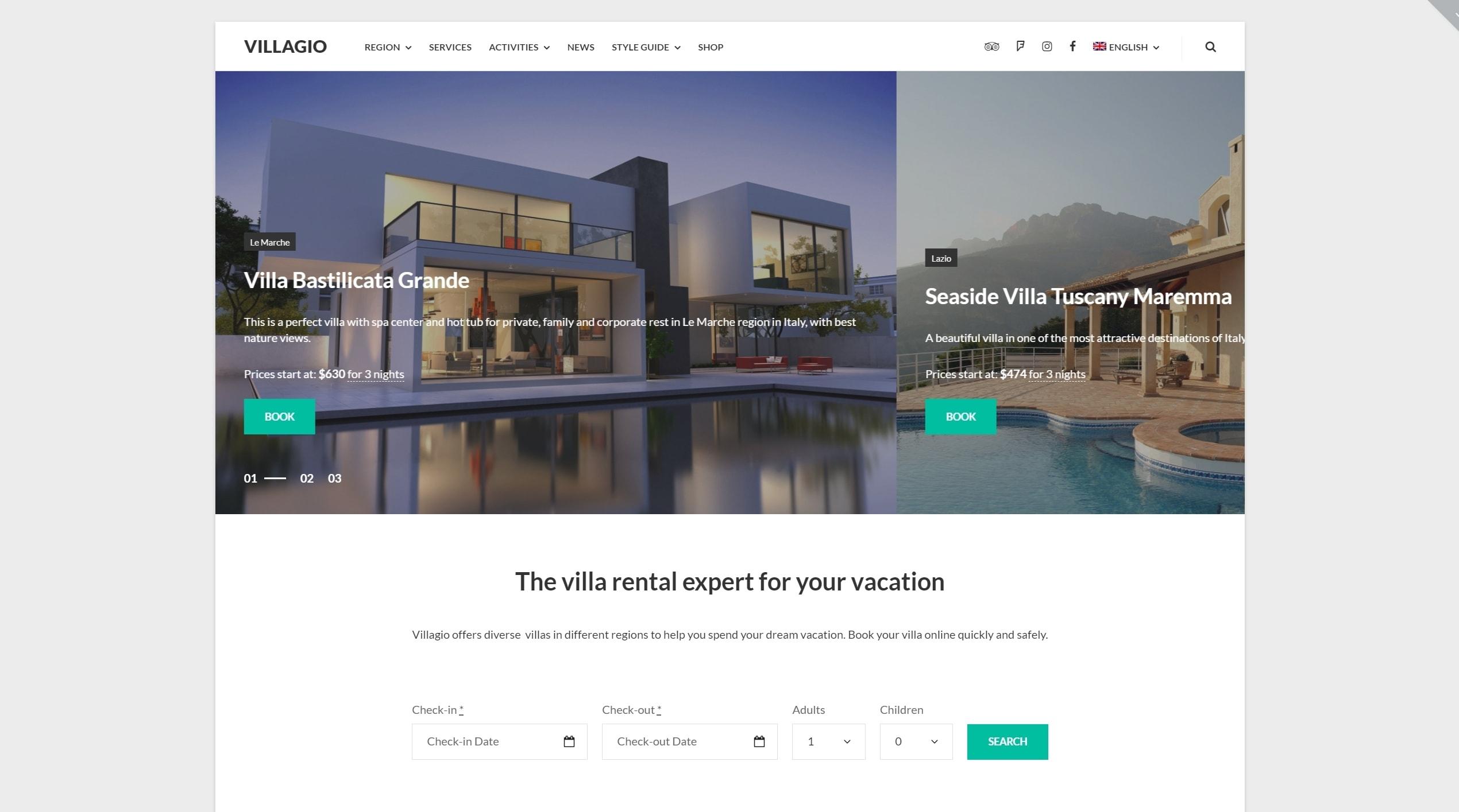 Русские шаблоны WordPress для недвижимости для сайтов с каталогом и онлайн-оплатой