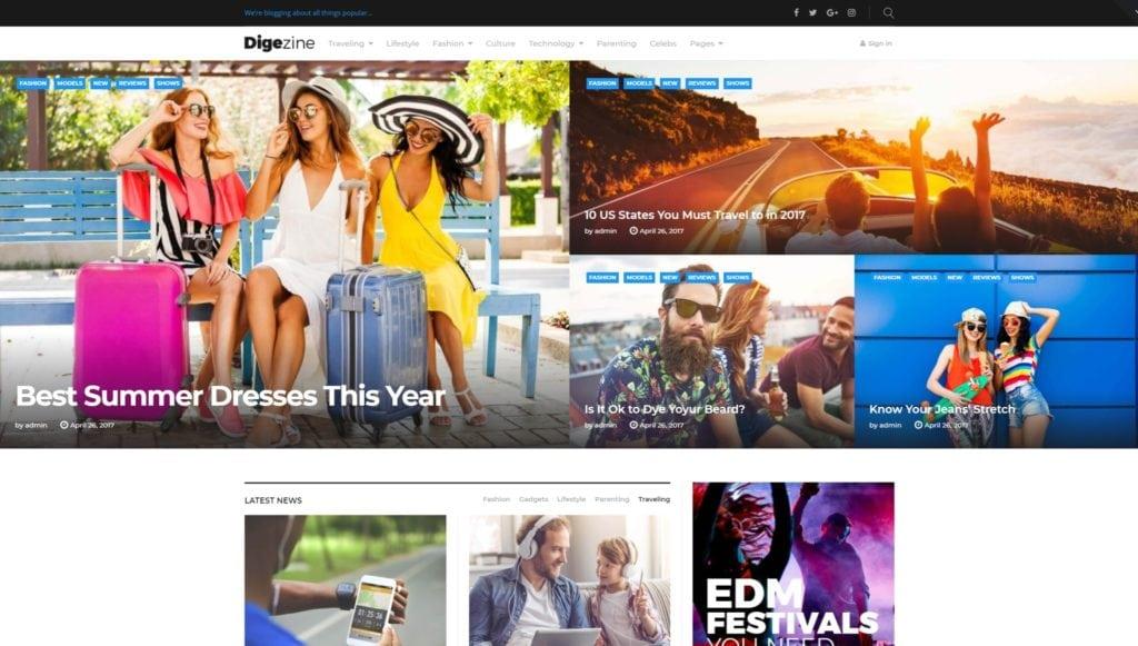 Лучшие шаблоны новостных порталов и сайтов на WordPress 03