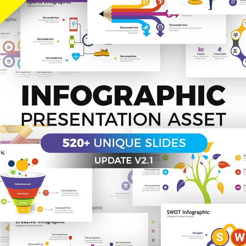 Keynote шаблон Business Infographic Pack - Keynote Asset