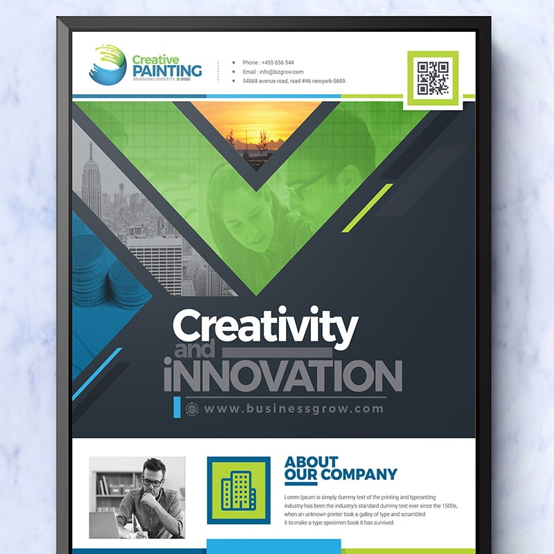 PSD шаблон Creative Business Flyer Design