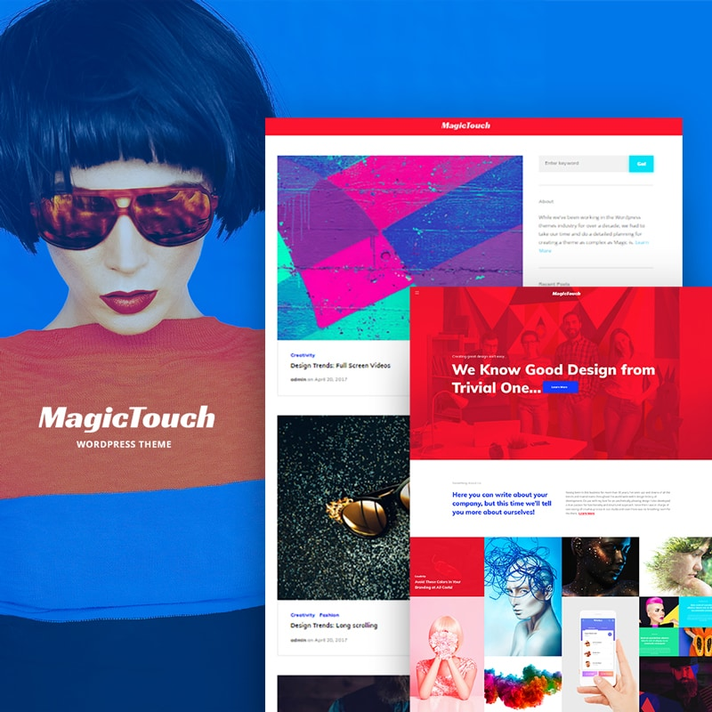WordPress шаблон MagicTouch - Web Design Studio Responsive