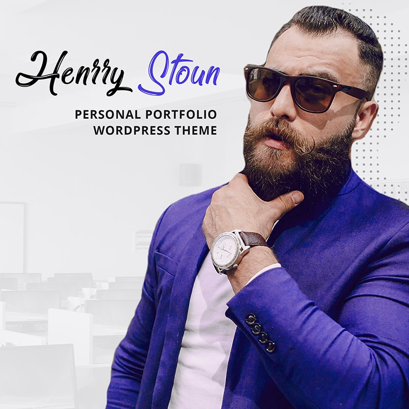 WordPress шаблон Henry Stoun - Personal Website