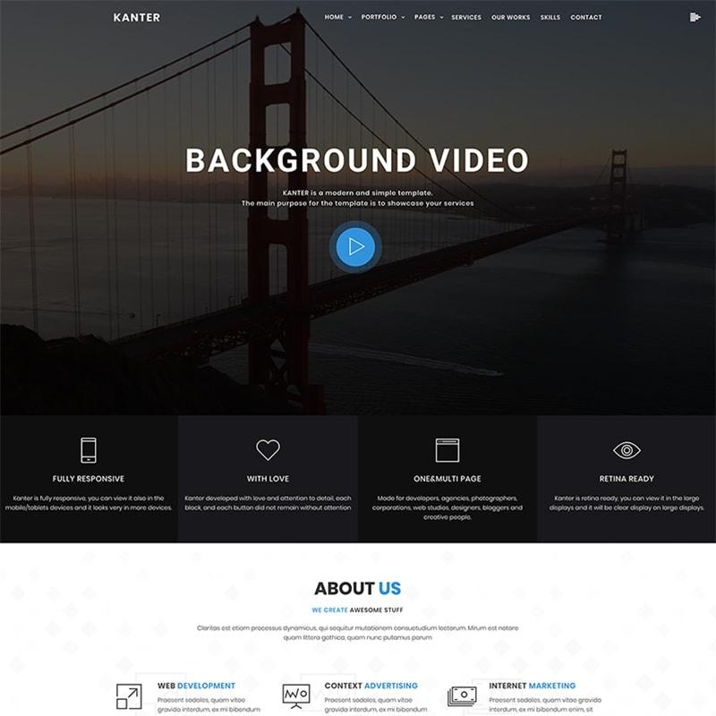 WordPress шаблон Kanter - Corporate & Portfolio & Agency