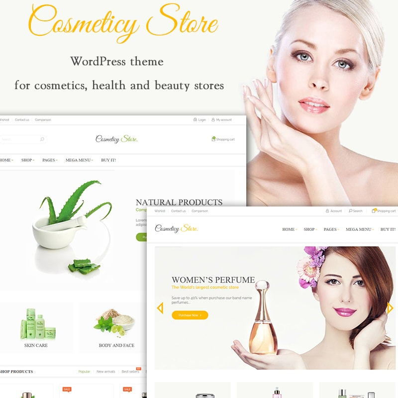 WooCommerce шаблон Cosmeticy Store - Cosmetic, Health and Beauty