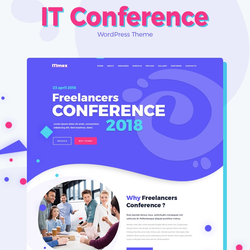WordPress шаблон ITImex - IT Conference Elementor